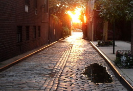 greenwich village cobblestone 1970
